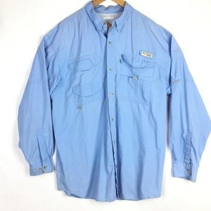 Columbia Mens PFG Fishing Shirt Long Sleeves XLT
